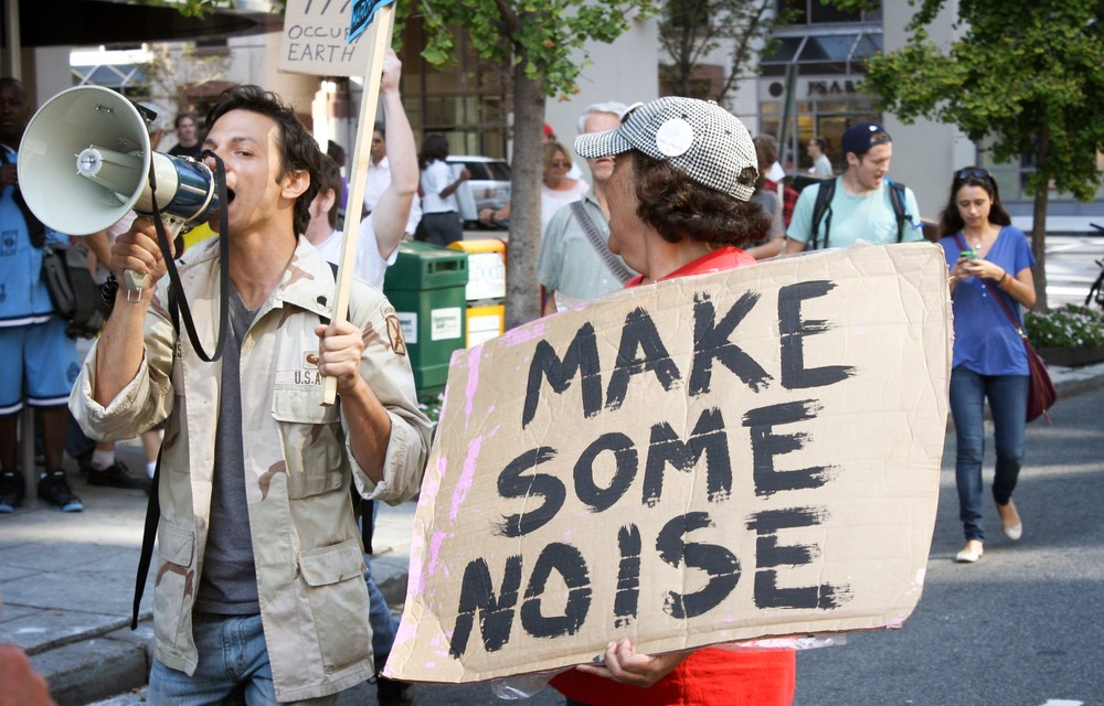 Make Some Noise Protester w/ Megaphone