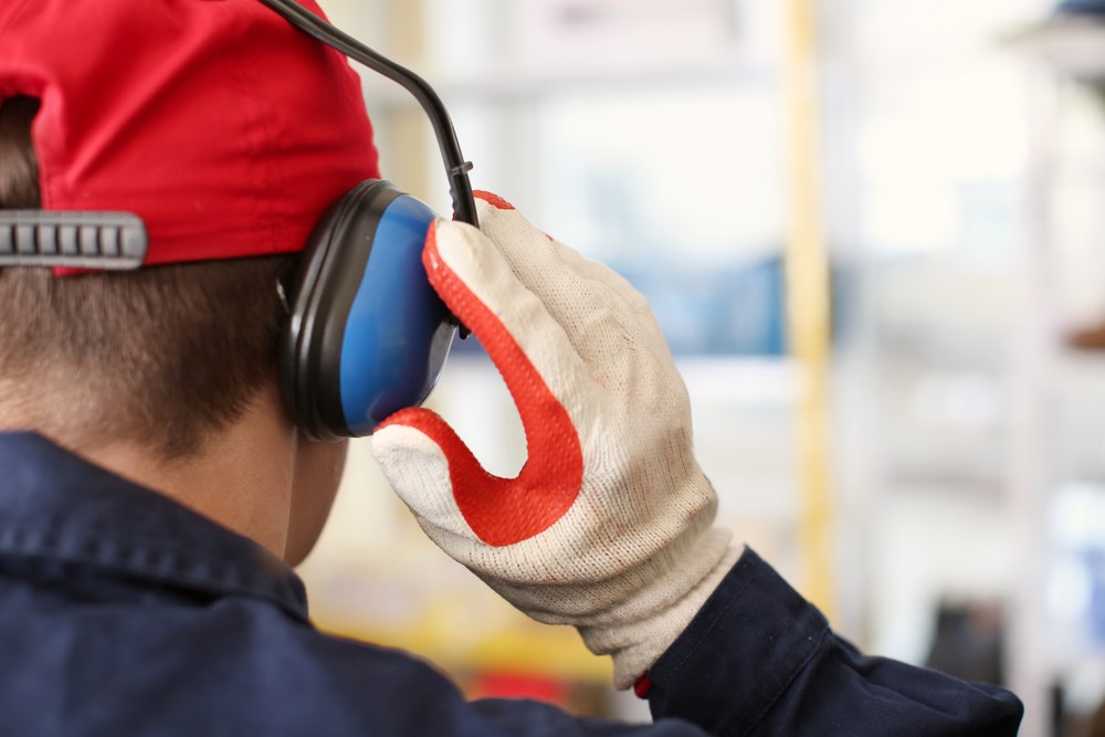 Hearing Loss Prevention - Man Wearing Ear Muffs